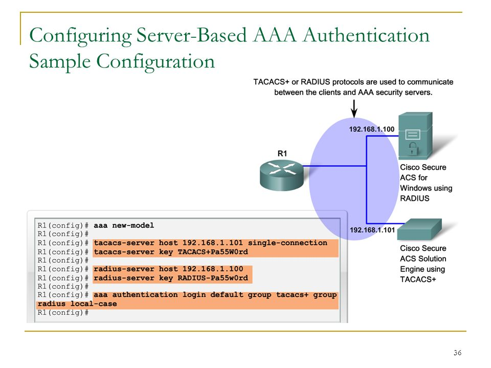 Access Control Authentication, Authorization, and Accounting - ppt