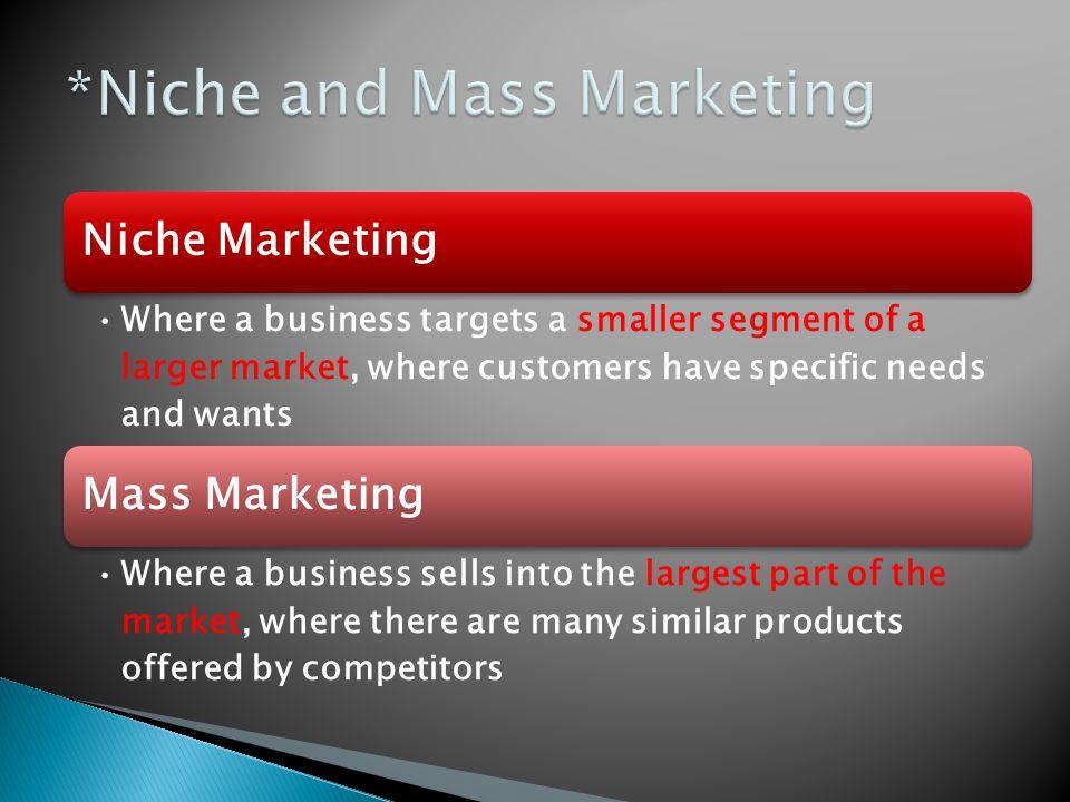 Market niche definition