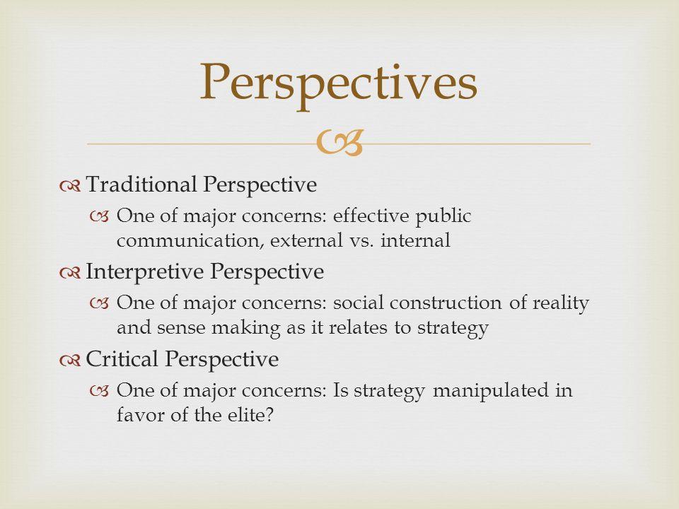 interpretive perspective