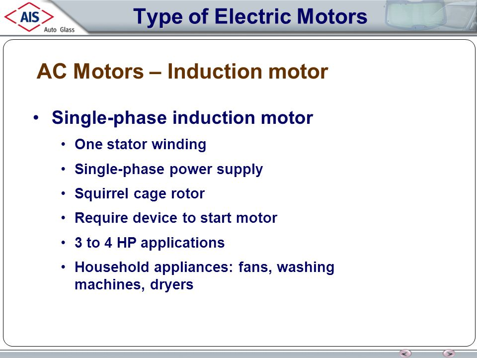 Single phase induction motor applications