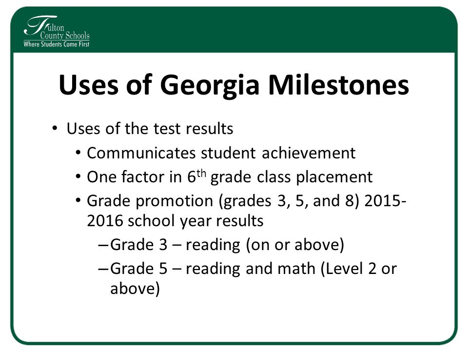 Georgia Milestones End Of Grade Eog Assessment Grades 3 4 And 5