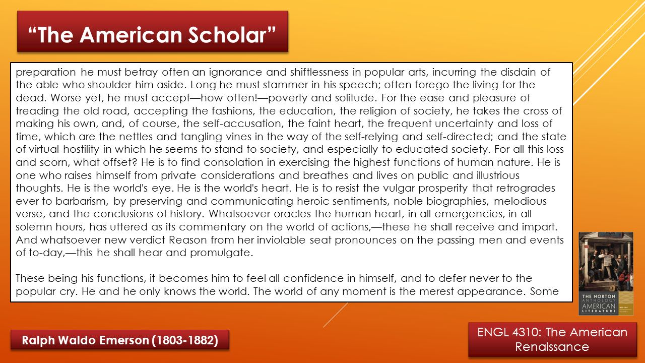 the american scholar speech