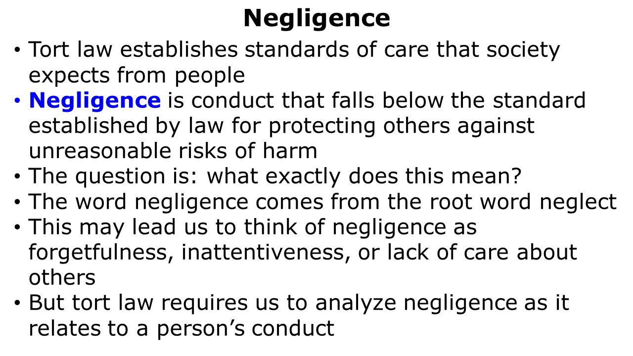 negligence. - ppt download
