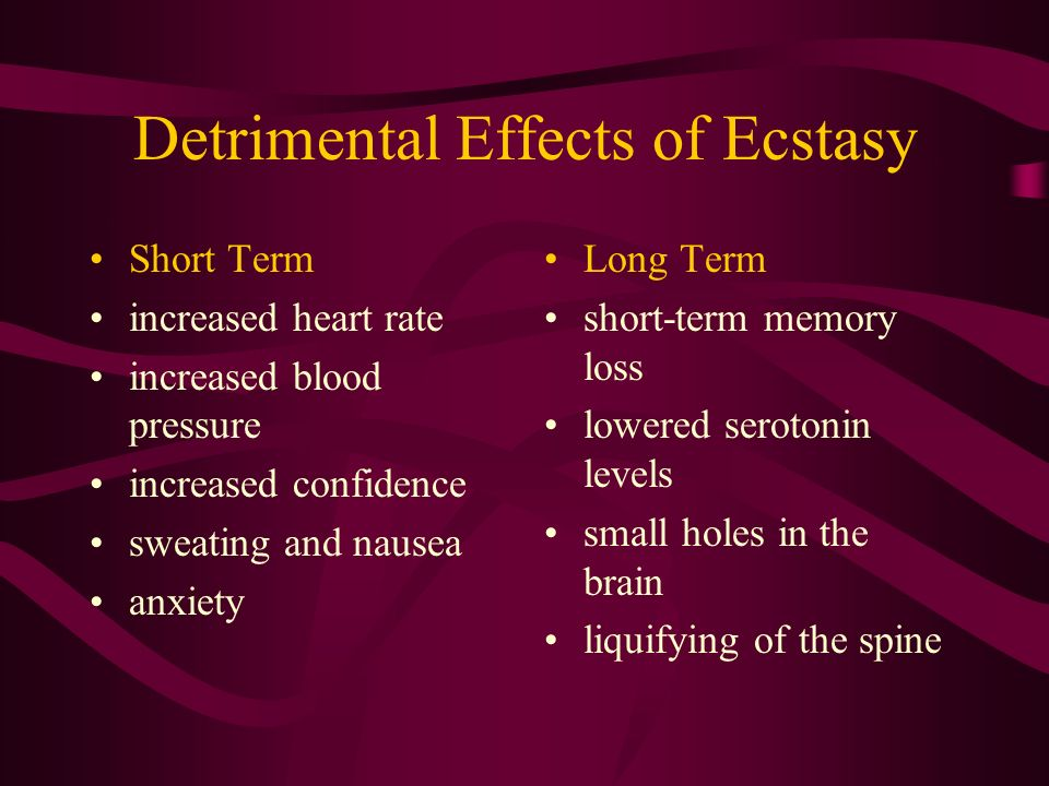 Long and short term effects of ecstasy | Custom paper Sample