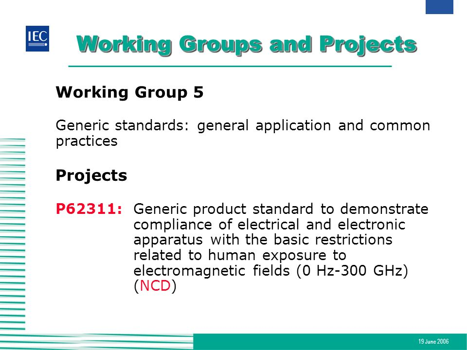 Working Groups and Projects
