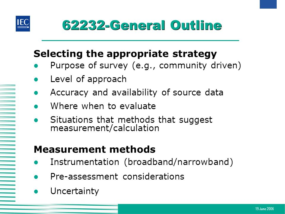 62232-General Outline Selecting the appropriate strategy