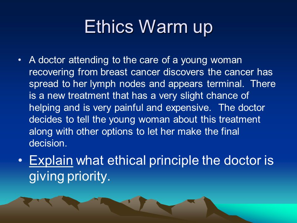 Ethics and breast cancer