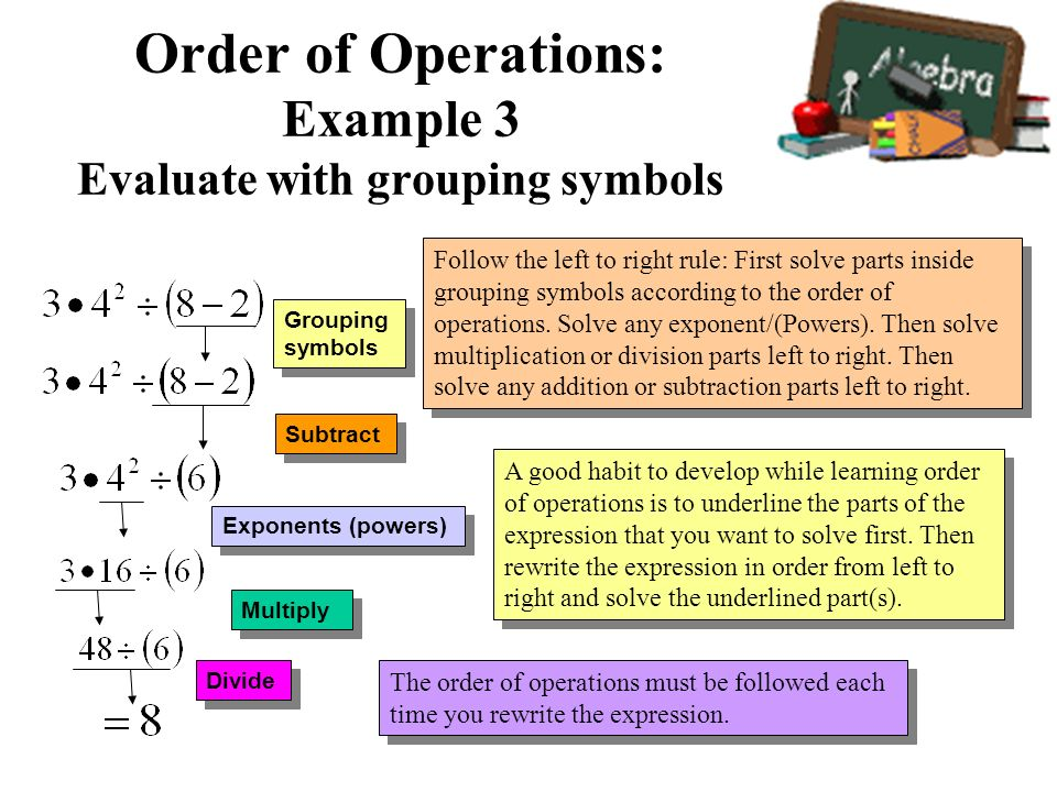 Order Of Operations And Evaluating Expressions Ppt Video Online