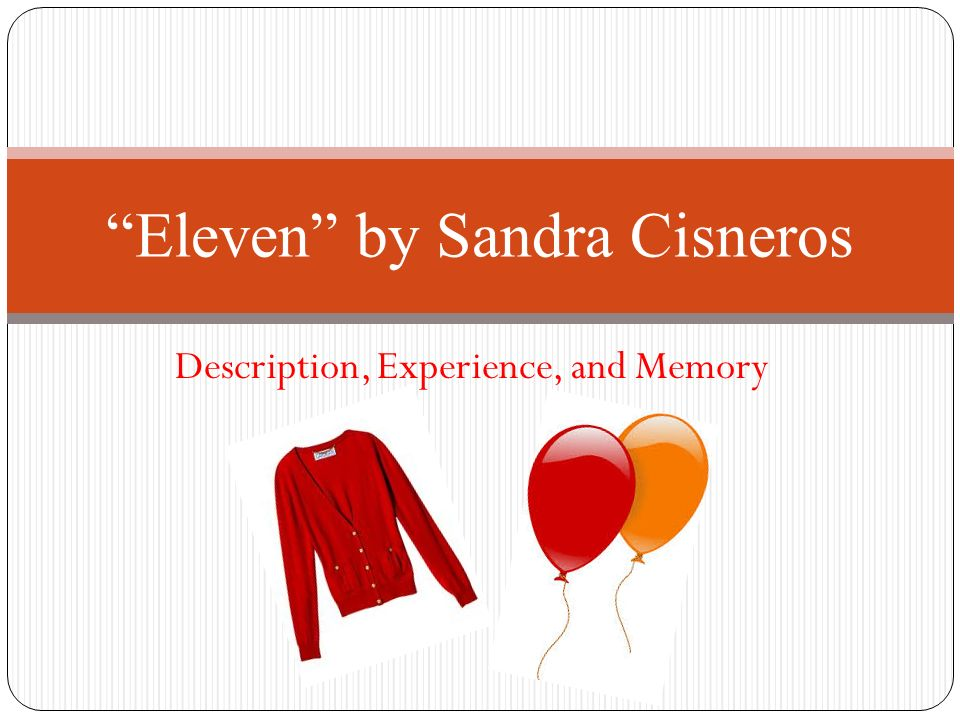 literary devices in eleven by sandra cisneros