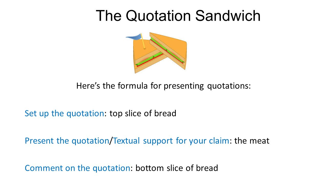 A Mini Lesson On Signal Phrases And Quotation Sandwiches Ppt Download
