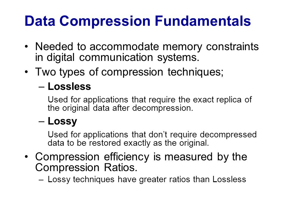 Project Proposal Audio Compression Variants - ppt download