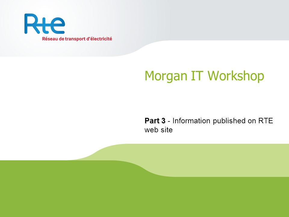 Part 3 - Information published on RTE web site