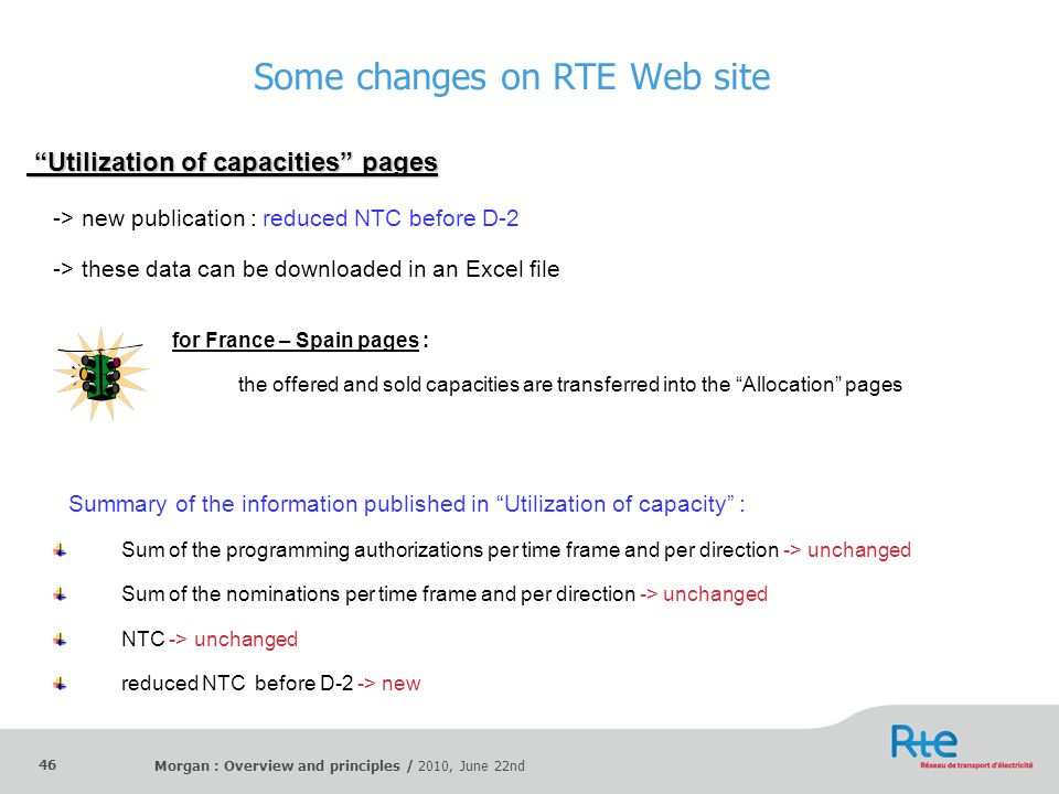 Some changes on RTE Web site