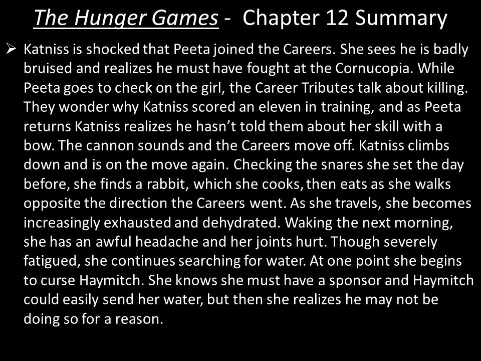 hunger games part 1 summary