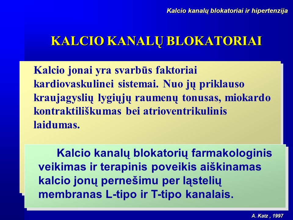 hipertenzija nuo kalcio