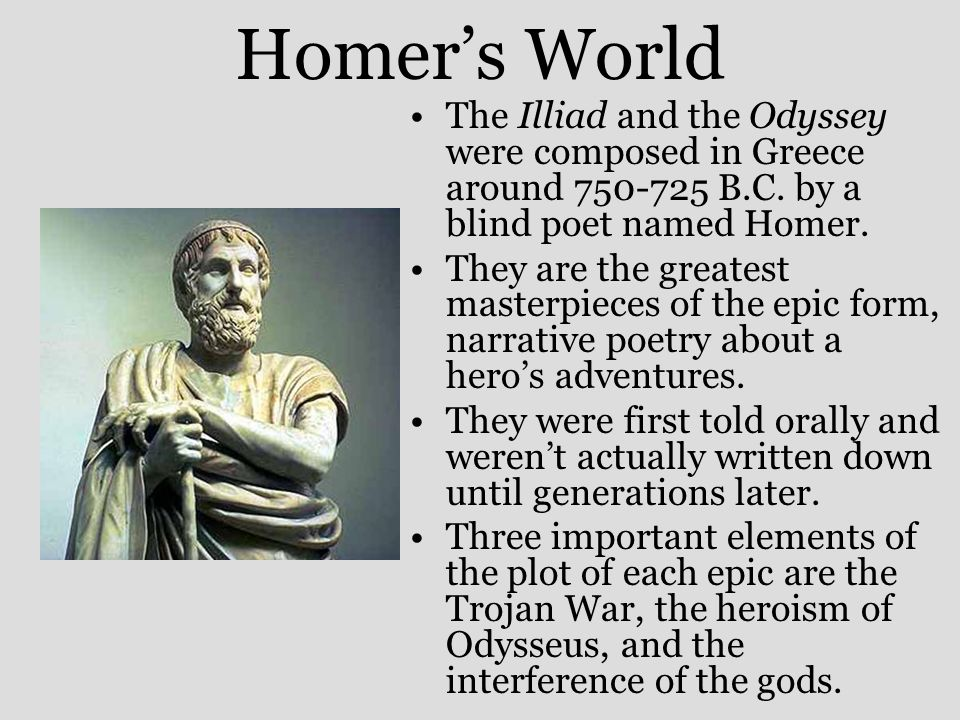 Epic Poetry Homer And The Odyssey Ppt Video Online Download