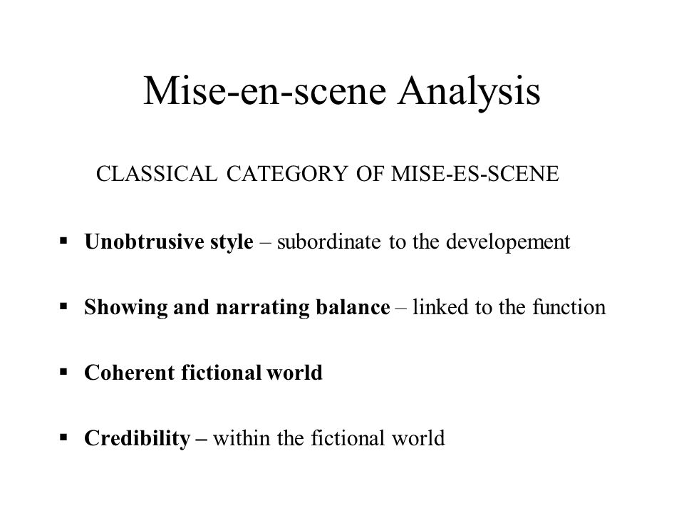 scene analysis example
