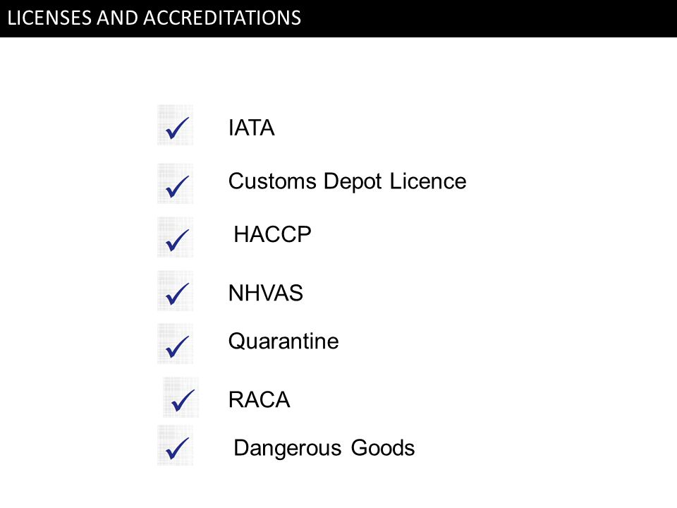 LICENSES AND ACCREDITATIONS