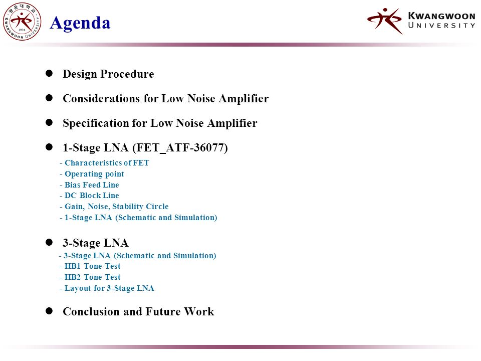 3-Stage Low Noise Amplifier Design at 12Ghz - ppt video