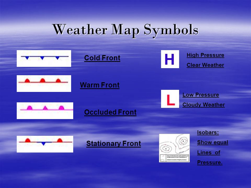 Warm Front Symbol Weather Map.Weather Weather Maps And Forecasting Ppt Video Online Download
