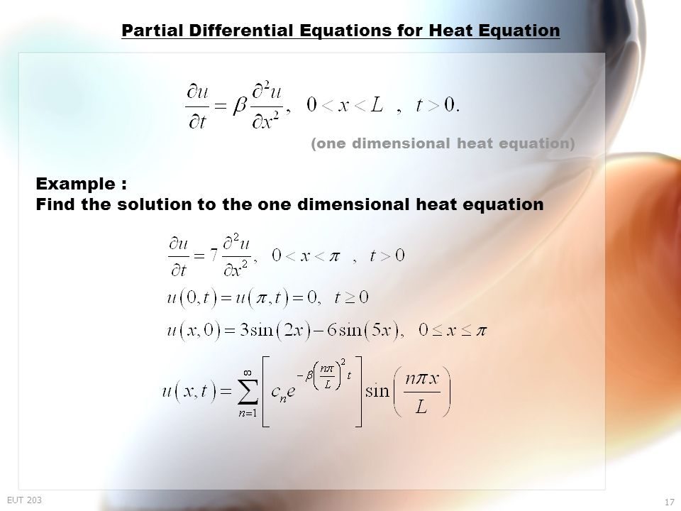Chapter 1 Partial Differential Equations - ppt video online