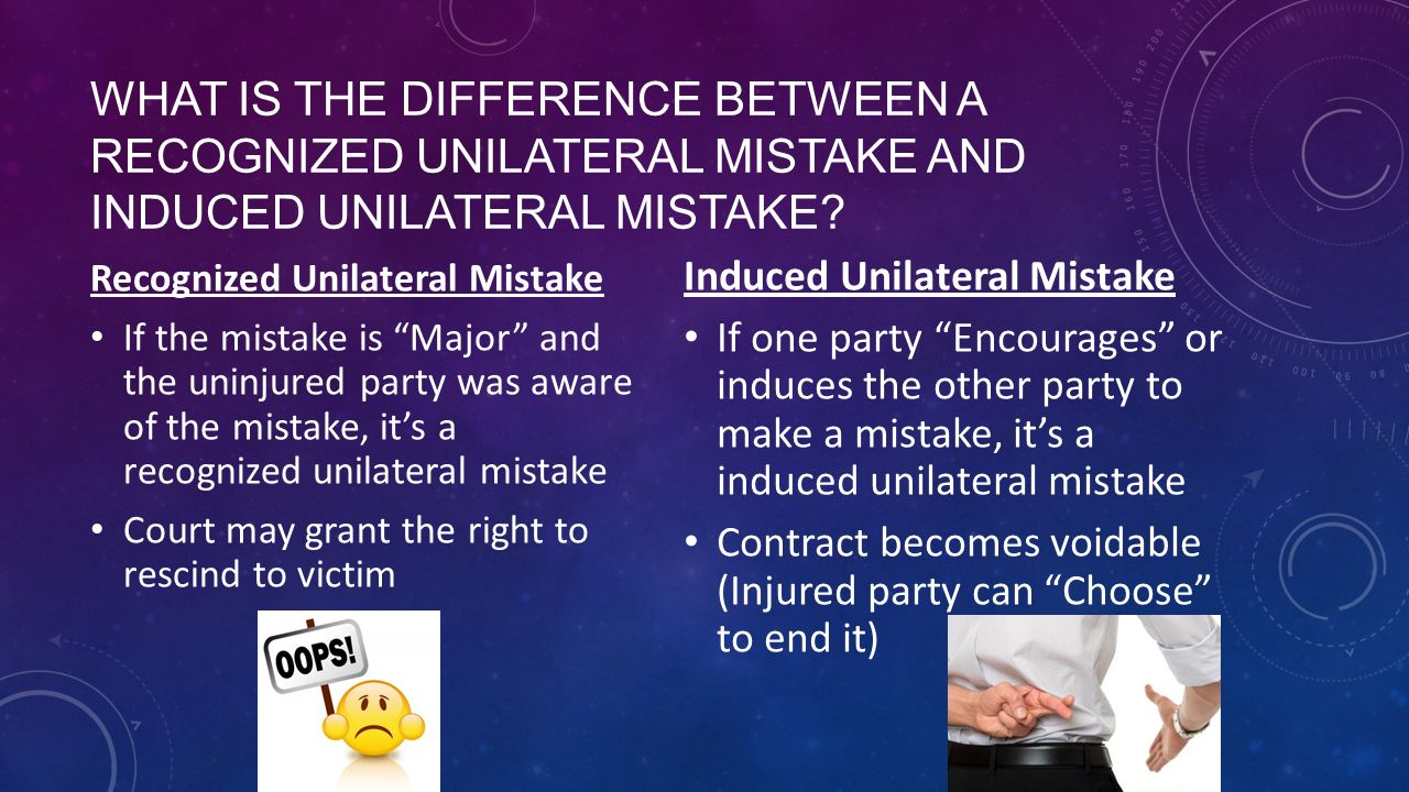 What is a mistake? 43