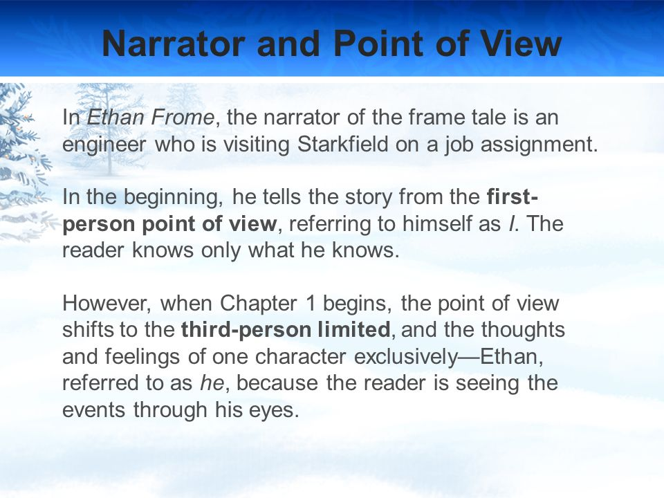 ethan frome characterization