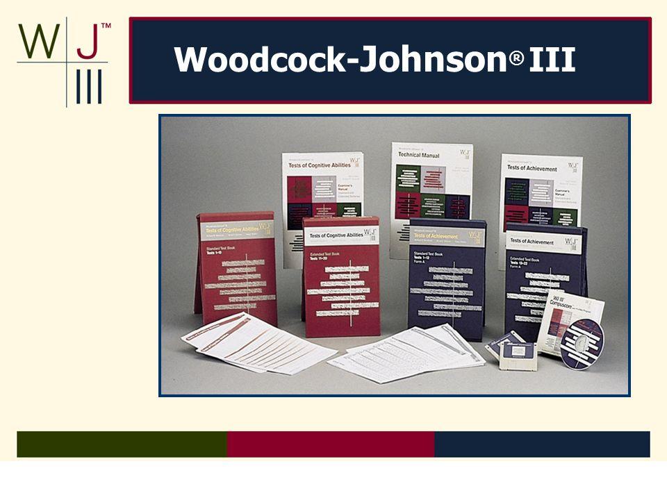 Woodcock-johnson® iii ppt download.