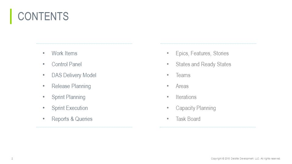 TFS 2015 – DAS Delivery model - ppt video online download