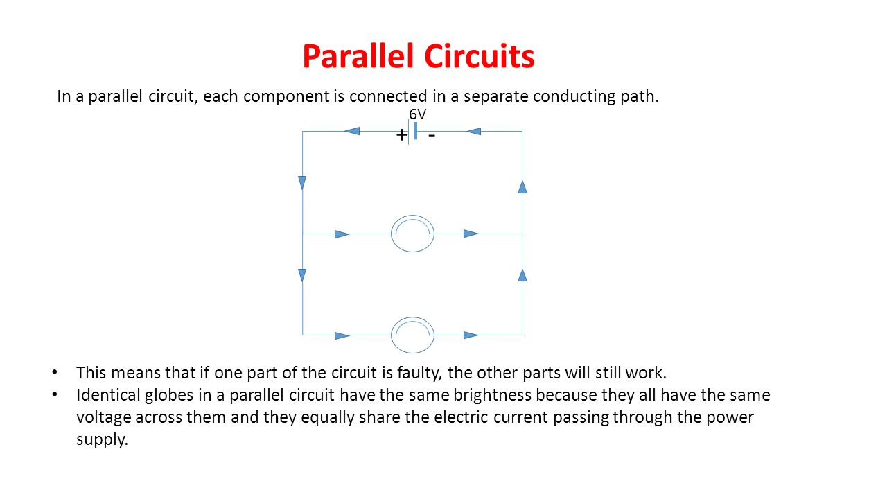 Heat And Electricity Ppt Video Online Download A Parallel Circuit Diagram Circuits In Each Component Is Connected Separate Conducting Path