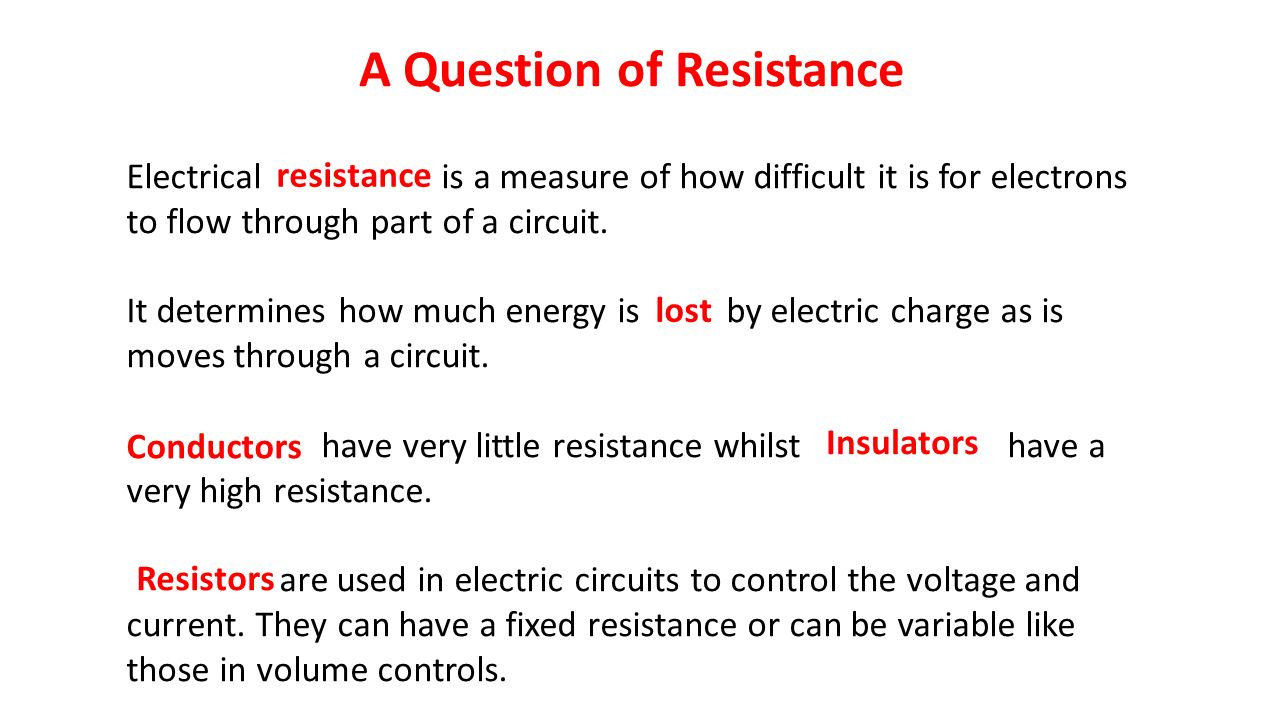 Heat And Electricity Ppt Video Online Download Measurements In Electric Circuits 15 A Question Of Resistance Electrical