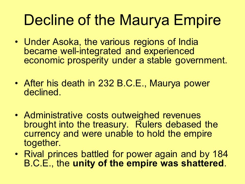 the ruler of the maurya empire was