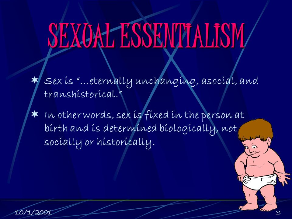 Essentialism definition sexuality