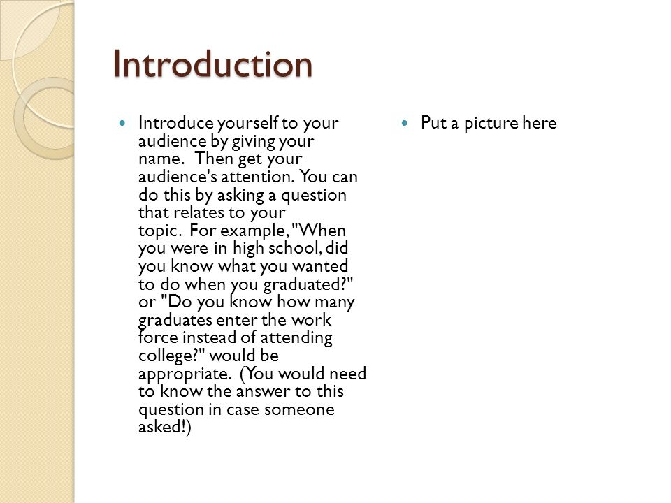 effective speech introductions