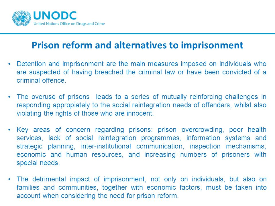Prison reform and alternatives to imprisonment