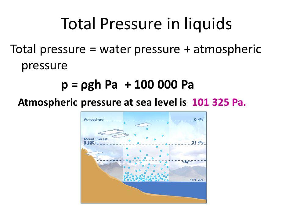 Pressure In Solids Liquids Atmospheric Ppt Video Online. Total Pressure In Liquids. Worksheet. Air Pressure Worksheet At Mspartners.co