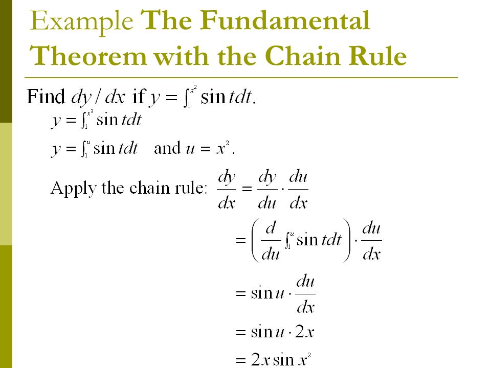 Fundamental Theorem of Calculus - ppt download