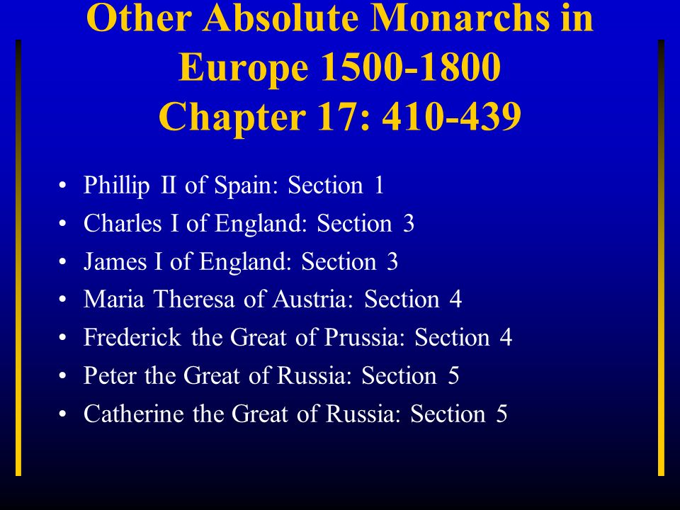 Absolute Monarchy In This Unit You Will Ppt Video Online Download