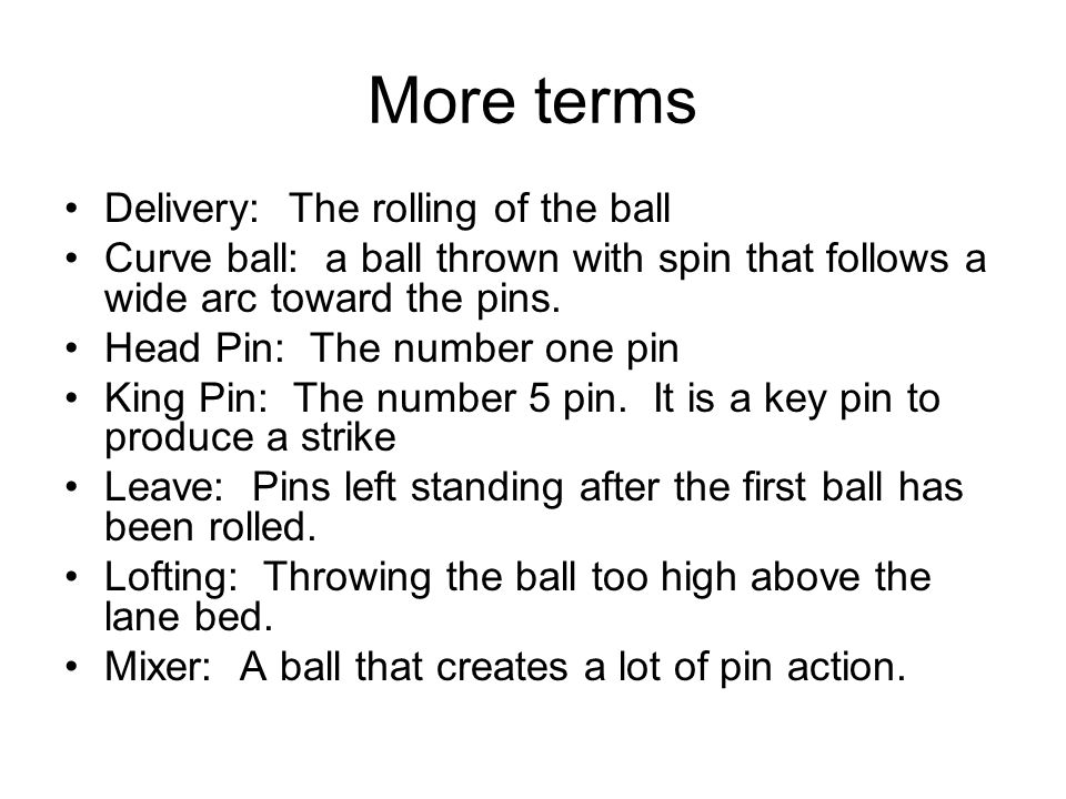Bowling Info  - ppt video online download