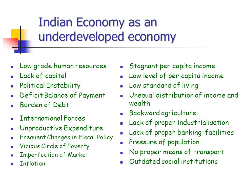underdeveloped economy definition