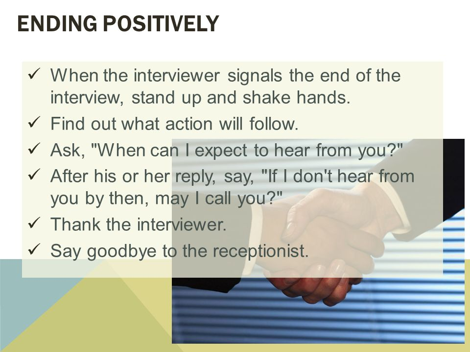 Interviewing and Following Up ppt video online download