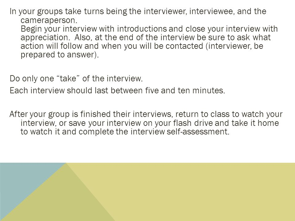 interview between interviewer and interviewee