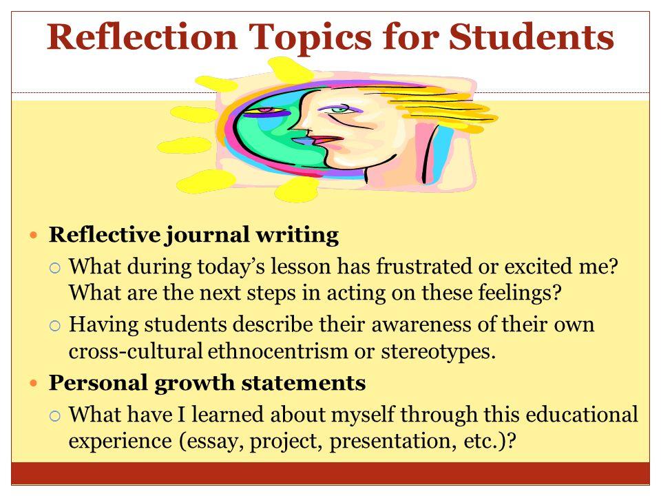 personal reflection topics