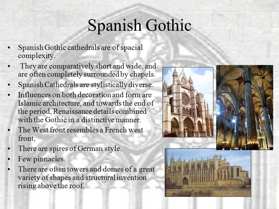 Spanish Gothic Cathedrals Are Of Spacial Complexity