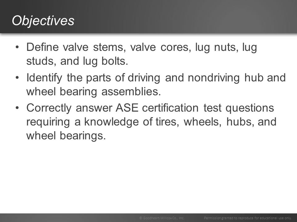 74 Chapter Tire Wheel And Wheel Bearing Fundamentals Ppt Video
