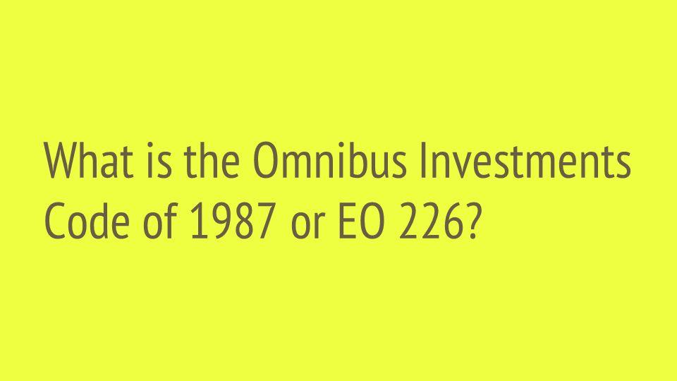Executive order 226 omnibus investment code raymond james investment services linkedin logo
