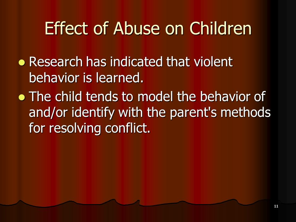 Effect of Abuse on Children