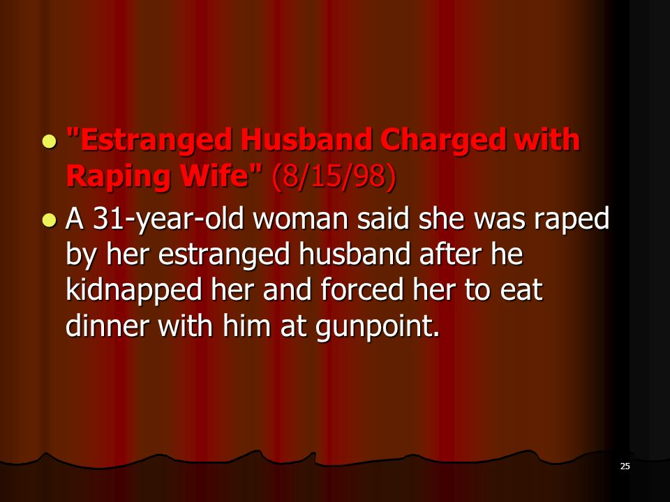 Estranged Husband Charged with Raping Wife (8/15/98)