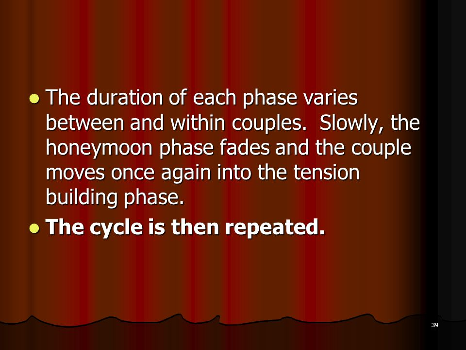 The duration of each phase varies between and within couples