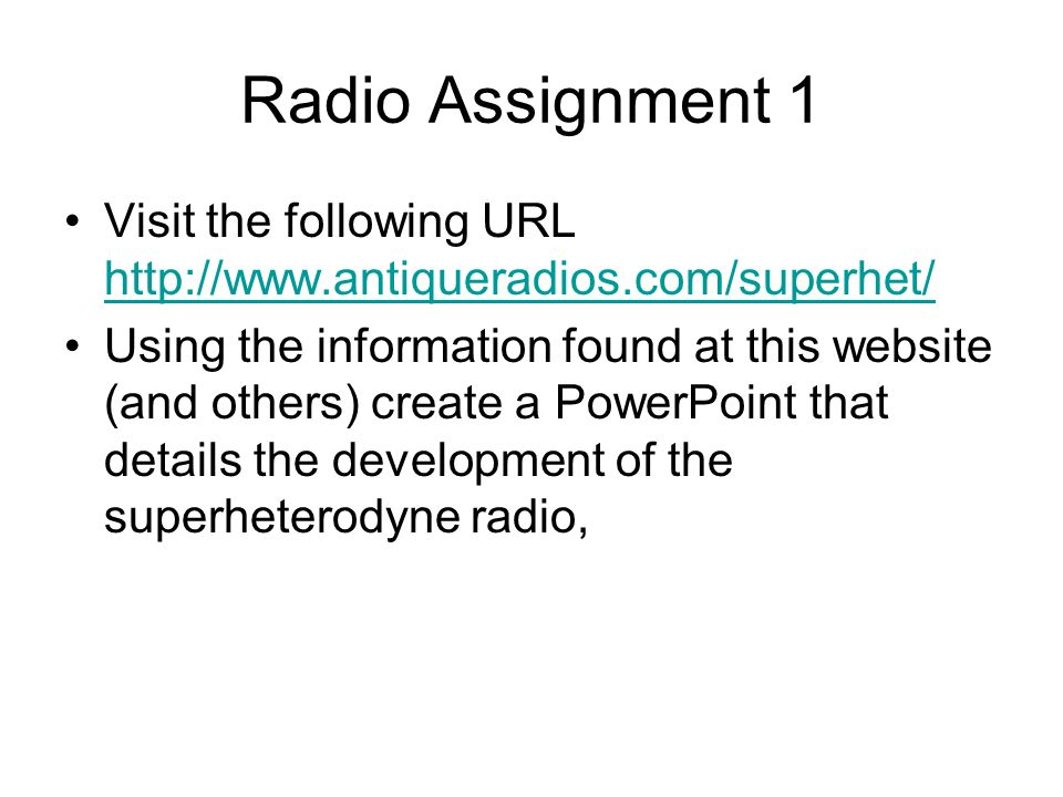 AM-FM Radio Superhet ppt video online download